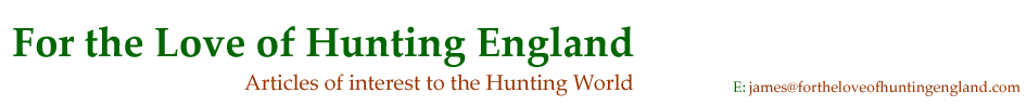For the Love of Hunting England
