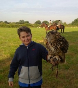 Billy, Les' Grandson, hunting with the Essex and Suffolk