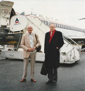 Michael leaving for America accompanied by Jim Meads.