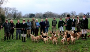 Masters old and new with the Royal Agricultural College Beagles at the end of the 2013/2014 season. A great training ground for those wanting to take up the responsibility of Matership.