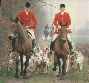 Me and a later first Whipper-In and Kennel Huntsman Roger Barnes at Baylham