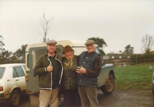 Jim on the right with Joan Wood and Trevor West