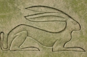 The hare on the back of Lady Hasting's Tomb Stone