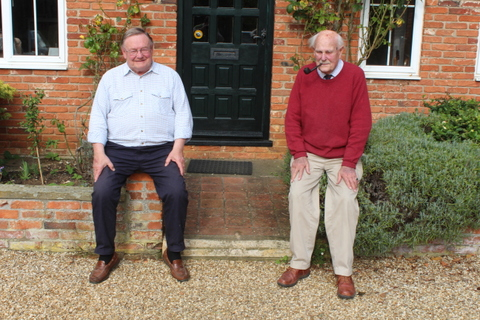 Donald on the right with David Hindle his good friend and Joint Master of the Colchester Garrison Beagles