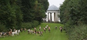 The Fitzwilliam Hounds flying up the main ride of the West End.